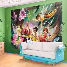 11 cute fairy wall murals and fairy wall decals for girls disney fairies forest wallpaper mural