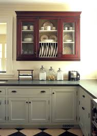 mixing stained wood kitchen cabinetry with painted cabinets