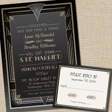 Wedding Invitations With Rsvp Great Gatsby Wedding Invitations With Rsvp Cards And