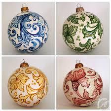 italian ceramic ornaments handmade baubles thatsarte