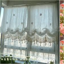 Balloon Curtains For Living Room Style Adjustable Balloon Curtain Living Room Shade White Window