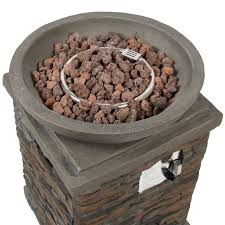 Firepit Base Best Choice Products Outdoor Bowl Firepit With Lava Rocks