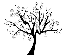 tree clipart swirly pencil and in color tree clipart swirly