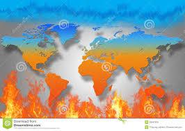 World Temperature Map World Map Is Burning Stock Illustration Image 39547815
