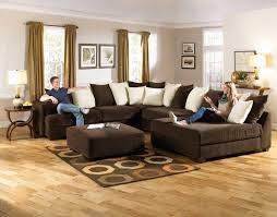 Large Brown Sectional Sofa Living Room Neutral Living Room Design Filled Large
