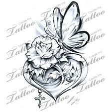 get rid of the butterfly and i love the flower inside the heart