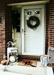 today i wanted to show you my pet cemetery halloween front door