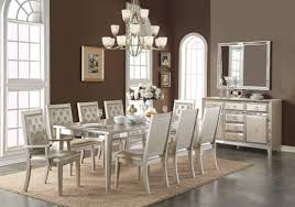 mirrors dining room dining room unusual 9 piece acme voeville matte gold mirrored