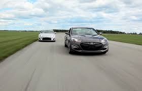 hyundai genesis vs nissan 370z 2013 scion fr s vs 2013 hyundai genesis coupe comparison