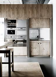 Industrial Kitchen Cabinets Plywood Kitchen Cabinets With Folding Doors On Side To Hide