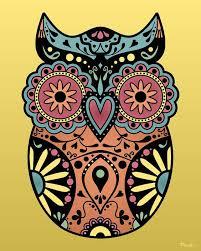 skull owl clipart