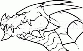 dragon head drawing how to draw a dragon head step step dragons