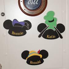 Cruise Door Decoration Ideas Disney Cruise Door Decorations Fun Mickey Name Signs