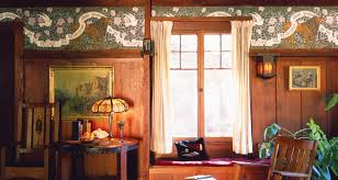 arts and crafts home interiors craftsman style wallpaper arts crafts movement bradbury