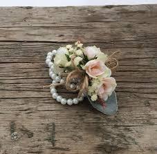 corsage wristlet wedding corsage prom corsage lambs ear baby breath