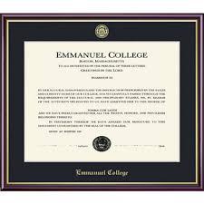 Emmanuel College It Help Desk Emmanuel College 8 5x11 Value Price Diploma Frame Emmanuel College