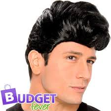 teddy boy hairstyle teddy boy mens wig fancy dress king of rock 60s celebrity costume