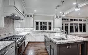 gray kitchen cabinets with white granite white granite countertops for a fantastic kitchen decor