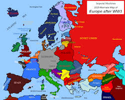 European Union Blank Map by Maps Map Of Europe 1918 40 Maps That Explain World War I Voxcom