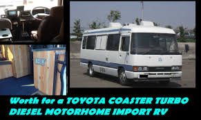 toyota service truck worth for a toyota coaster turbo diesel motorhome import rv toyota