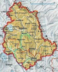 map of perugia umbria region of italy cities and towns of italia