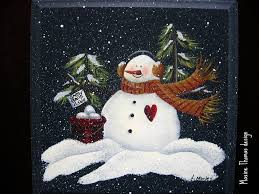tole painting rolling pin google search painting snowmen
