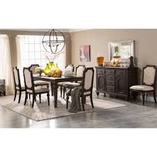 Distressed Black Dining Table Steve Silver Cayden 9 Piece Dining Table Set With Optional Buffet