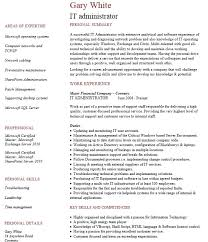 Sample Resume For Network Administrator by It Administrator Resume Samples Csat Co