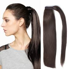 Pony Wrap Hair Extension by Remeehi 100 Real Human Hair Body Wave Wrap Around Ponytail