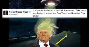 Neil Tyson Degrasse Meme - neil degrasse tyson asked a legitimate question about trump clinton