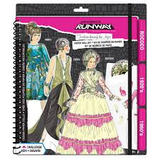 doll design book runway fashion through the ages paper doll kit