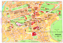 map with attractions edinburgh map detailed city and metro maps of edinburgh for