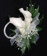 calla corsage wrist corsage centerville florists