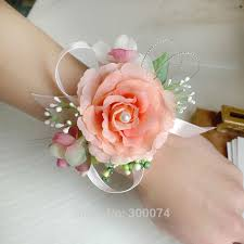 bridesmaid corsage aliexpress buy free dhl artificial flower for wedding