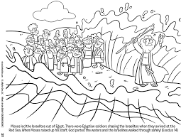 moses red sea free coloring download kids u0027 crafts