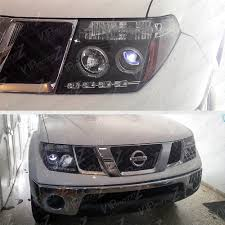 black nissan pathfinder 2005 for 05 07 pathfinder 2005 2008 frontier black halo rim led