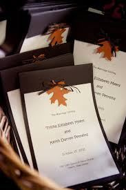 fall wedding programs wedding program with leaf detail by customeventcreations on etsy