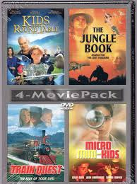 4 movie pact kids round table the jungle book train quest micro