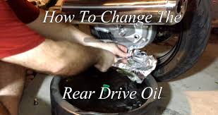 how to change the final drive oil in a motorcycle yamaha fjr 1300