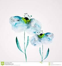 watercolor flower frame stock vector image 40296907