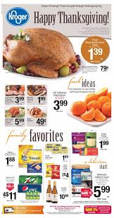 kroger thanksgiving deals november weekly ads