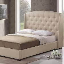 Bedroom Furniture Ipswich Baxton Studio Ipswich Transitional Beige Fabric Upholstered