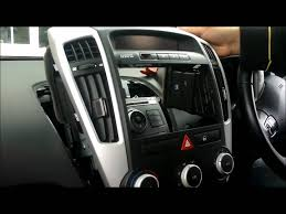 how to remove the standard stereo surround and stereo from a kia c