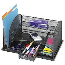 Office Depot Desk Organizer Safco 3 Drawer Desktop Organizer 16 H X 11 38 W X 8 D Black By