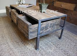 shipping crate coffee table 3 zoria crate industrial coffee table the crate people