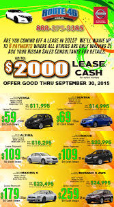 nissan sentra lease 0 down route 46 nissan new nissan dealership in totowa nj 07512