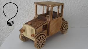 wooden car wooden toy car ford model t youtube