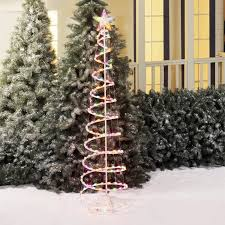 holiday time pre lit 4 u0027 christmas lamp post tree clear lights