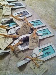 luggage tags favors destination wedding favors and place settings mint green and