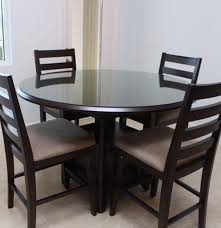 casana round high top dining table and chairs ebth